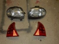 Front and rear lights for a Mk2 Renault Clio (2000 model) £30 the lot