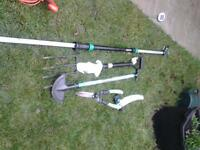 assortment of garden hand tools