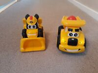 Toy CAT Digger and Truck