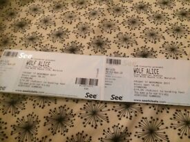 2 X WOLF ALICE TICKETS, NORWICH (STANDING)
