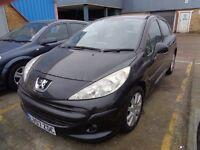 Peugeot 207 1.6 SEMI-AUTO LOW MILEAGE Black Petrol