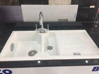 Ex-display Ceramic Blanco Idessa Sink and tap