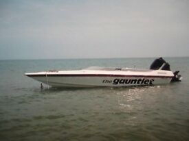 18ft ring speedboat 200hp mercury on trailer very fast boat not for the faint hearted