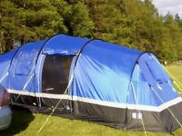6 man Hi Gear Zenobia tent in excellent condition with accessories