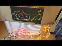 Sleigh rope light silhouette