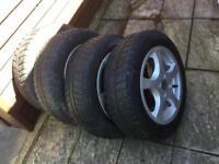 "Mini Cooper 15"" alloy wheels set Michelin Alpin 175 65 R15 nearly new winter tyres"