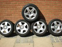 AUDI ALLOY WHEELS WITH TIRES