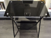 Glass small desk/ good condition / can deliver