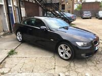 BLACK BMW 320D CONVERTIBLE 2008