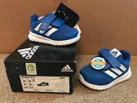 Adidas Blue Trainers kids size 4 BNIB