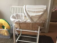 Once upon a time mamas and papas Moses basket and stand