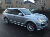 "Porsche Cayenne gts tiptronic s 2009 ""59"" but with private plate silver with grey leather"