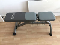 York Fitness Weight Bench Gym Equipment - 5 adjustable positions from 0 to 90 degrees incline