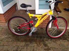 yellow Salcano bike