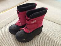 Muddy puddles snow boots, size 11