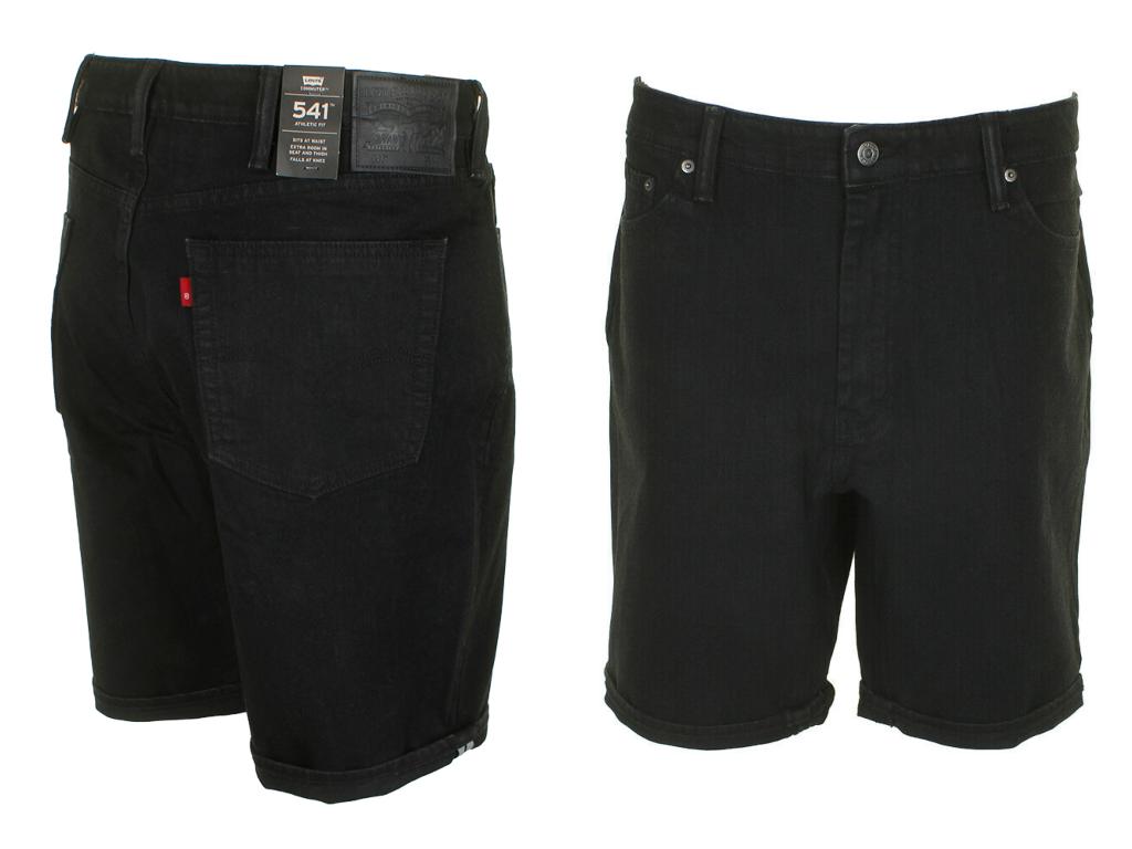Levis 541 Commuter Athletic Fit Denim Levi's Black Shorts #0
