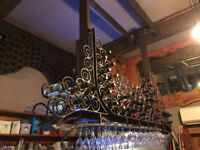 Wine and Glasses Rack, bespoke piece
