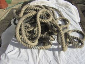 Sisal Rope. One inch and haf inch diameters.