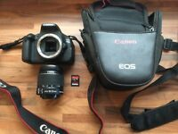 Canon EOS 600D / Digital SLR Camera with EF-S 18-55mm, 32GB SD card and carry case