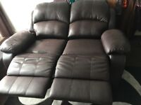 £50 Recliner sofa. 2 seater. little bit worn off few parts. put sofa covers