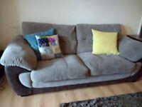 Brown material sofa could suite