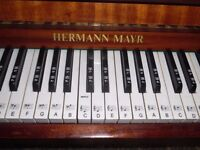 upright piano by herman mayr