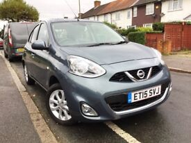 2015 NISSAN MICRA 1.2 ACENTA AUTO 5DR,4000 MILE,CAR IS SOLD KNOW MORE STOCK AVAILABLE CALL FOR INFO