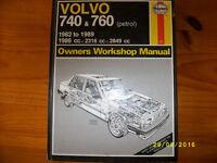 Used Volvo 740 & 760 petrol workshop manual