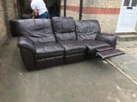 2 set leather sofa ! Recliner!