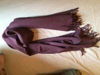 Acne Studios Unisex burgundy scarf