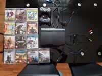 PS 3 WITH GAMES GUITAR DRUMS AND MICROPHONE