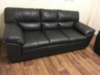 Quality leather sofa (free delivery)