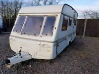 Swift challenger 5 berth touring caravan cassette toilet bunk bed