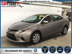 2014 Toyota Corolla LE, CAMERA, BLUETOOTH, HEATED SEATS