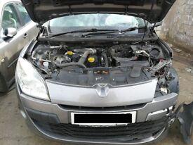 Renault Megane 2009 Grey - For parts only!