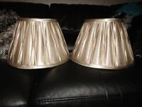 2 LAMP SHADES IN A GOLD /BRONZE COLOUR