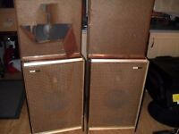 rare retro / collectable music speakers / tannoy speakers - 1050s / 60s Wharfdale / Chrysler