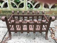 Wrought Iron dog grate and fire guard