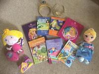 Girls princess book/toy bundle