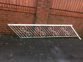 Reclaimed Wrought Iron Stair Rail / Banister ( Can Deliver ) ring malc