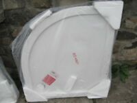 1 x white offset shower tray 900 x 800 new still in wrappers