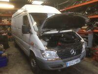 Mercedes sprinter van parts injector gearbox fuel pump turbo gear selector head light radiator