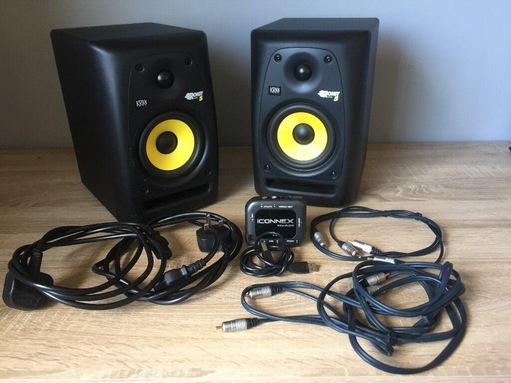 krk rokit 5 g3 rp5 active studio monitors pair iconnex usb audi interface in filton. Black Bedroom Furniture Sets. Home Design Ideas