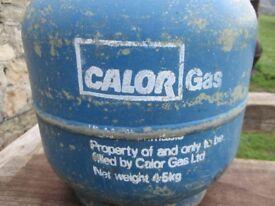 Empty Calor gas bottle 4.5Kg with regulator