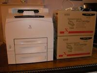 Xerox Phaser 4500DT duplex monochrome laser printer + TWO brand new print cartridges