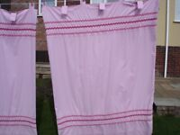 NEXT Tab Top Fully lined pink curtains