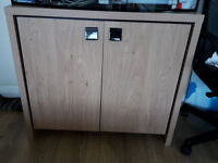 Wooden strong cabinet under the aquarium in good condition.