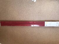 RED FABRIC ROMAN BLINDS, BRAND NEW - 120CM X 160CM - BARGAIN £7.50