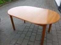 teak extending dining table