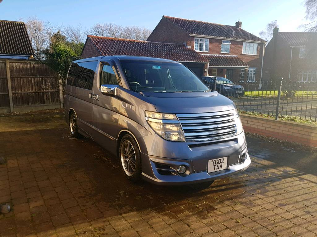 Low mileage Nissan Elgrand 2002, E51 van / people carrier / camper, part  exchange